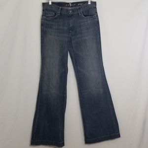 7 for all Mankind Gray Blue Denim Wash Ginger Jean